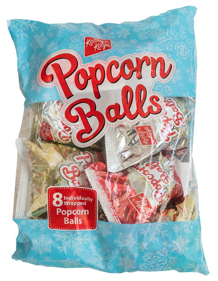 Kathy Kaye S Christmas Popcorn Balls 8 Ct Walmart Com Walmart Com