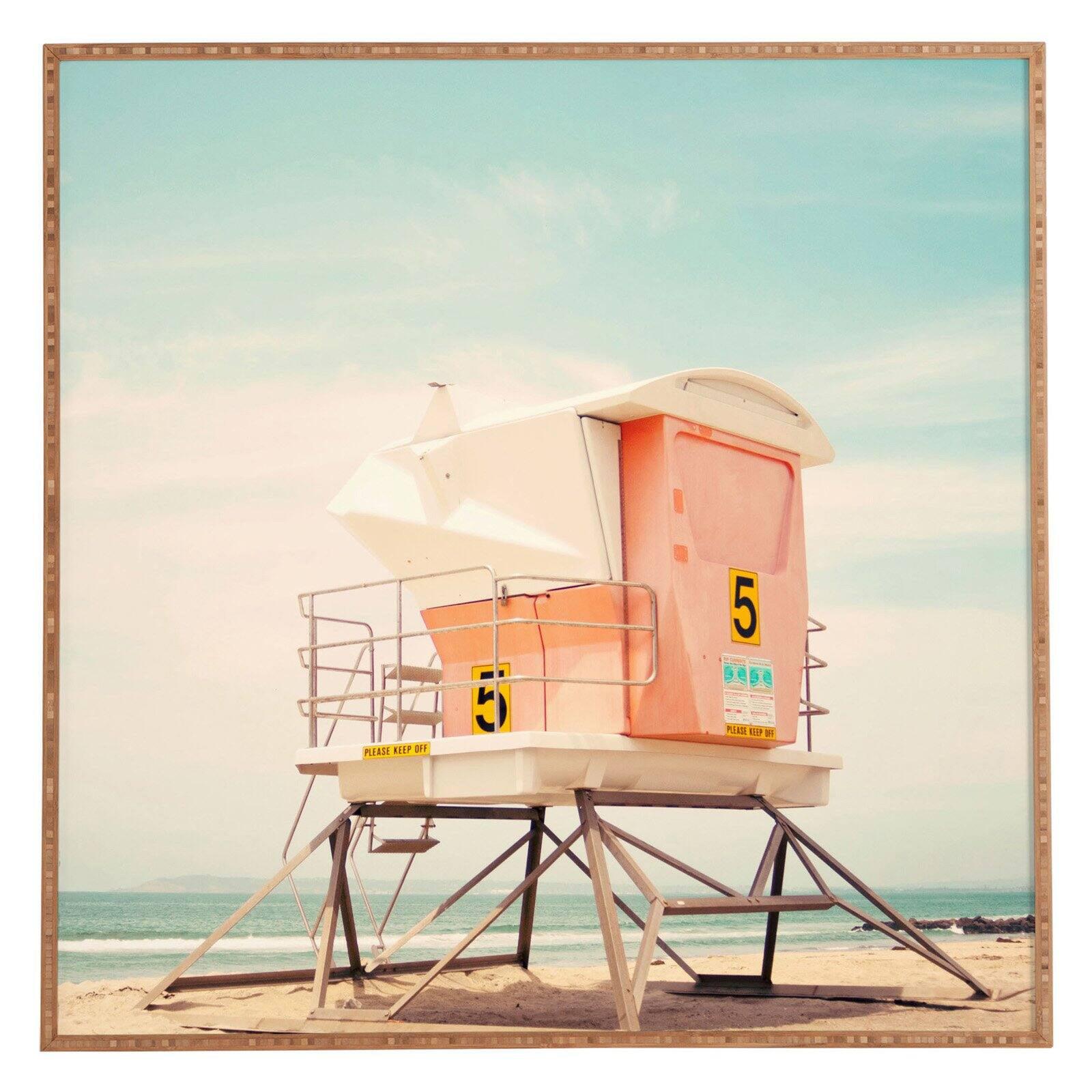 Deny Designs Bree Madden Beach Tower 5 Framed Wall Art Walmart Com Walmart Com