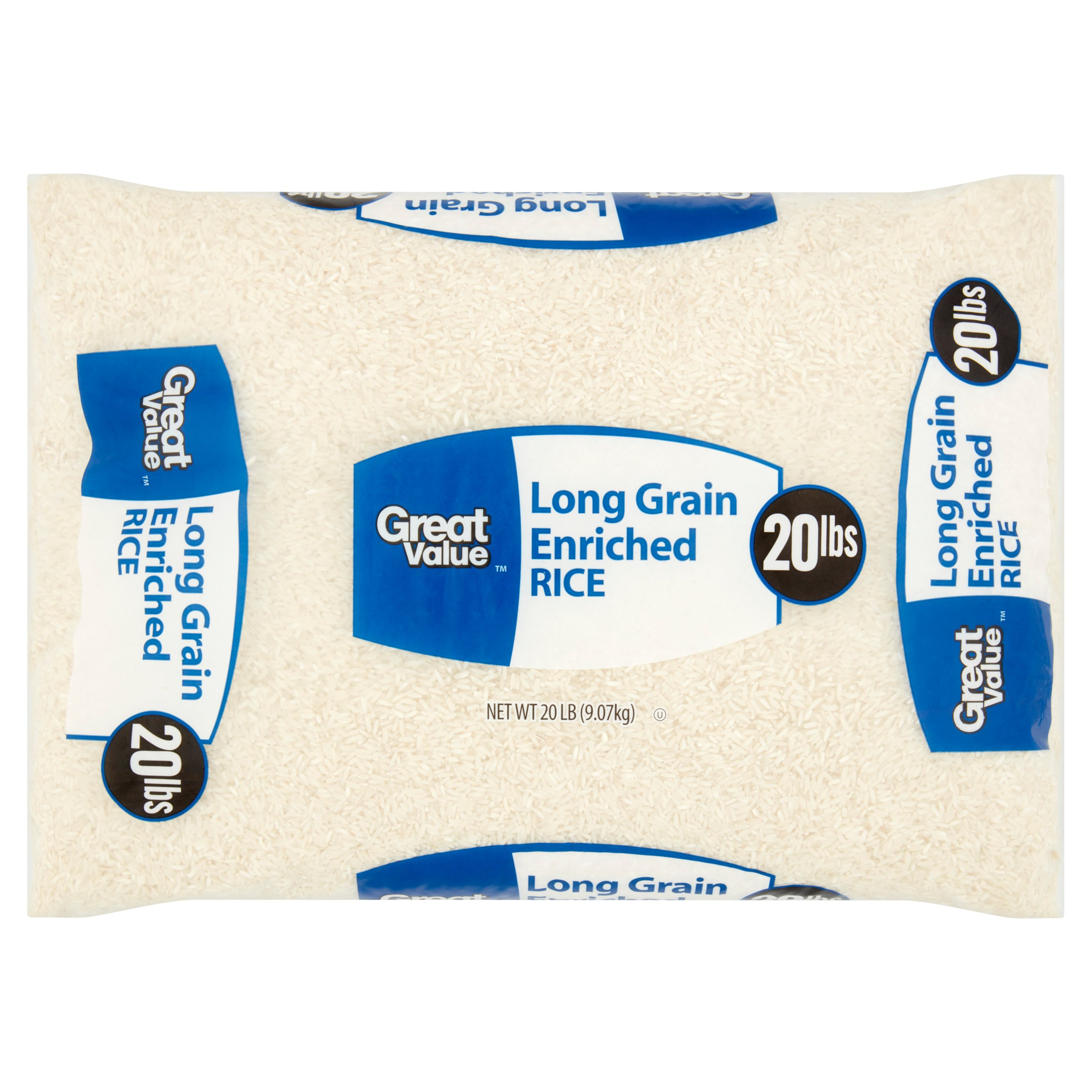 Great Value Long Grain Enriched Rice 20 Lb Walmart Com