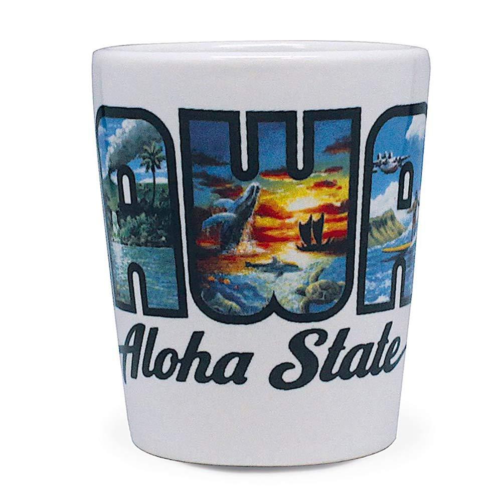 Hawaiian Ceramic Shot Glass Aloha State
