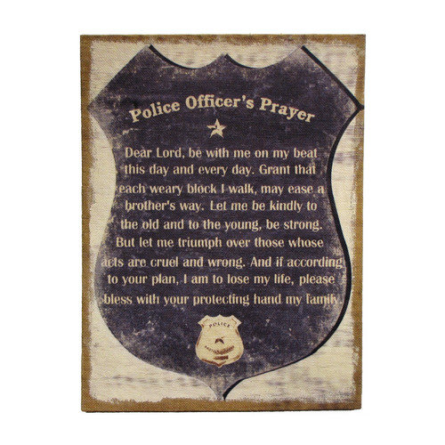 Wilco Home ''Inspire Me'' ''A Police Officer's Prayer'' Framed Textual Art