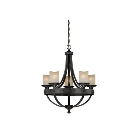 Vaxcel Halifax 5 Light Candle Style Chandelier