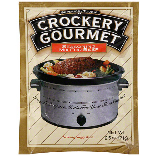 Superior Touch Crockery Gourmet Beef Seasoning Mix, 2.5 oz (Pack of 12)