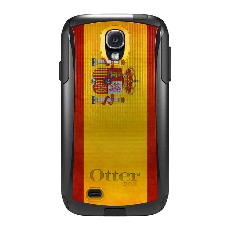DistinctInk Custom Black OtterBox Commuter Series Case for Samsung Galaxy S4...