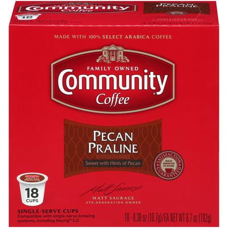 Community® Coffee Pecan Praline Single-Serve Cups 18 ct Box