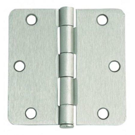 6-Hole .25 in. Radius Door Hinge, 3.5 x 3.5 in. Satin Nickel - 1 Door Outdoor Satin
