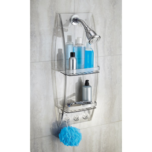 Click here to buy InterDesign Grand Arc Clear Plastic Shower Caddy by INTERDESIGN.
