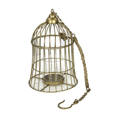 Breakwater Bay Elegant Bird Cage Hanging Metal Lantern