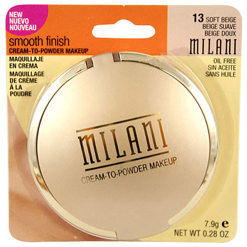Milani Smooth Finish Cream-to-Powder Makeup, 13 Soft Beige, 0.28 oz