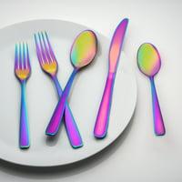 Cambridge Silversmiths Cranston Rainbow Mirror Flatware Set, 20 Piece
