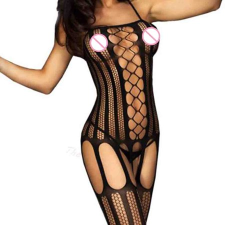 Women Erotic Sexy Fishnet Body Stocking Perspective Hollow Out Mesh Cloth