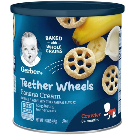 Gerber Graduates Waffle Wheels, Banana Cream, 1.48 oz. (Pack of - Gerber Graduates Chicken