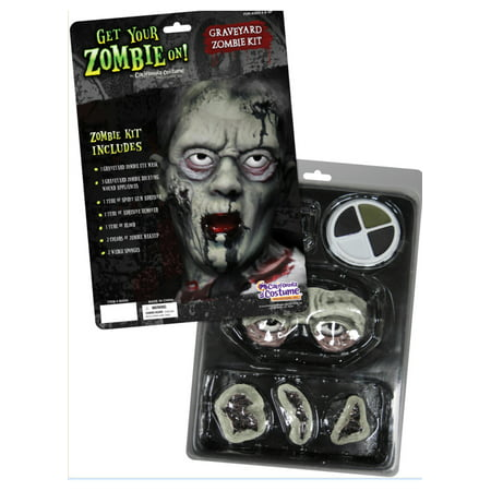 Easy To Do Halloween Zombie Makeup (Graveyard Zombie Makeup Kit California Costumes)