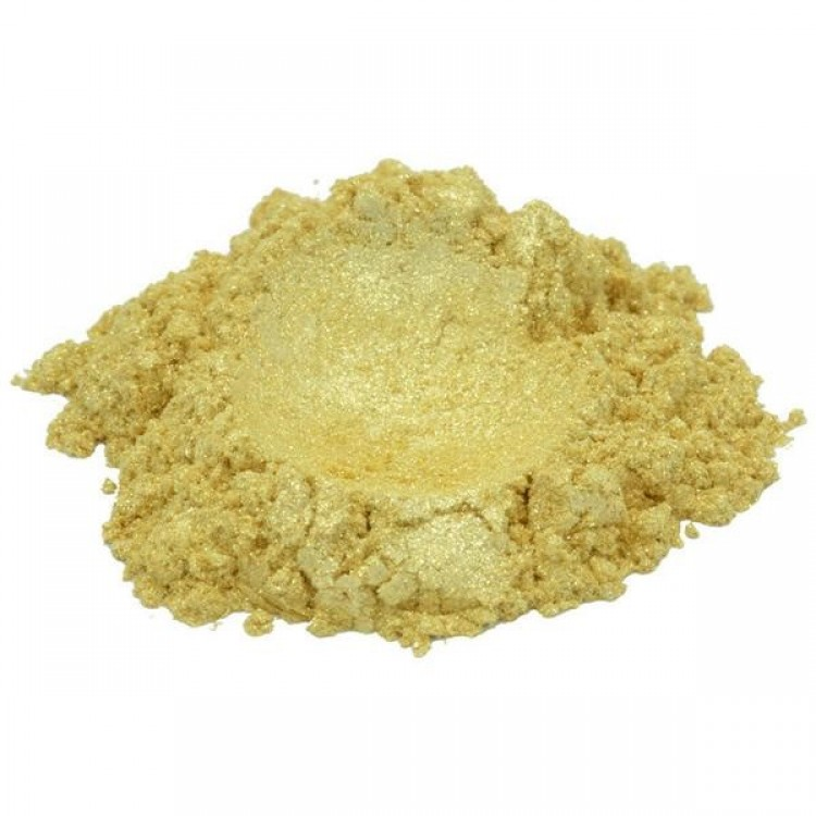 GLEAMING GOLD YELLOW LUXURY MICA COLORANT PIGMENT POWDER COSMETIC GRADE 1 OZ