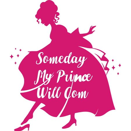 Someday My Prince Will Come Princess Disney Girl Teen Bedroom Picture Art Mural Custom Wall Decal Vinyl Sticker 10 Inches X 10 Inches