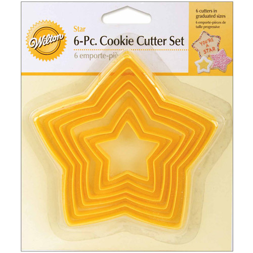 Wilton Nesting Plastic Cookie Cutter Set, Stars 6 ct. 2304-111