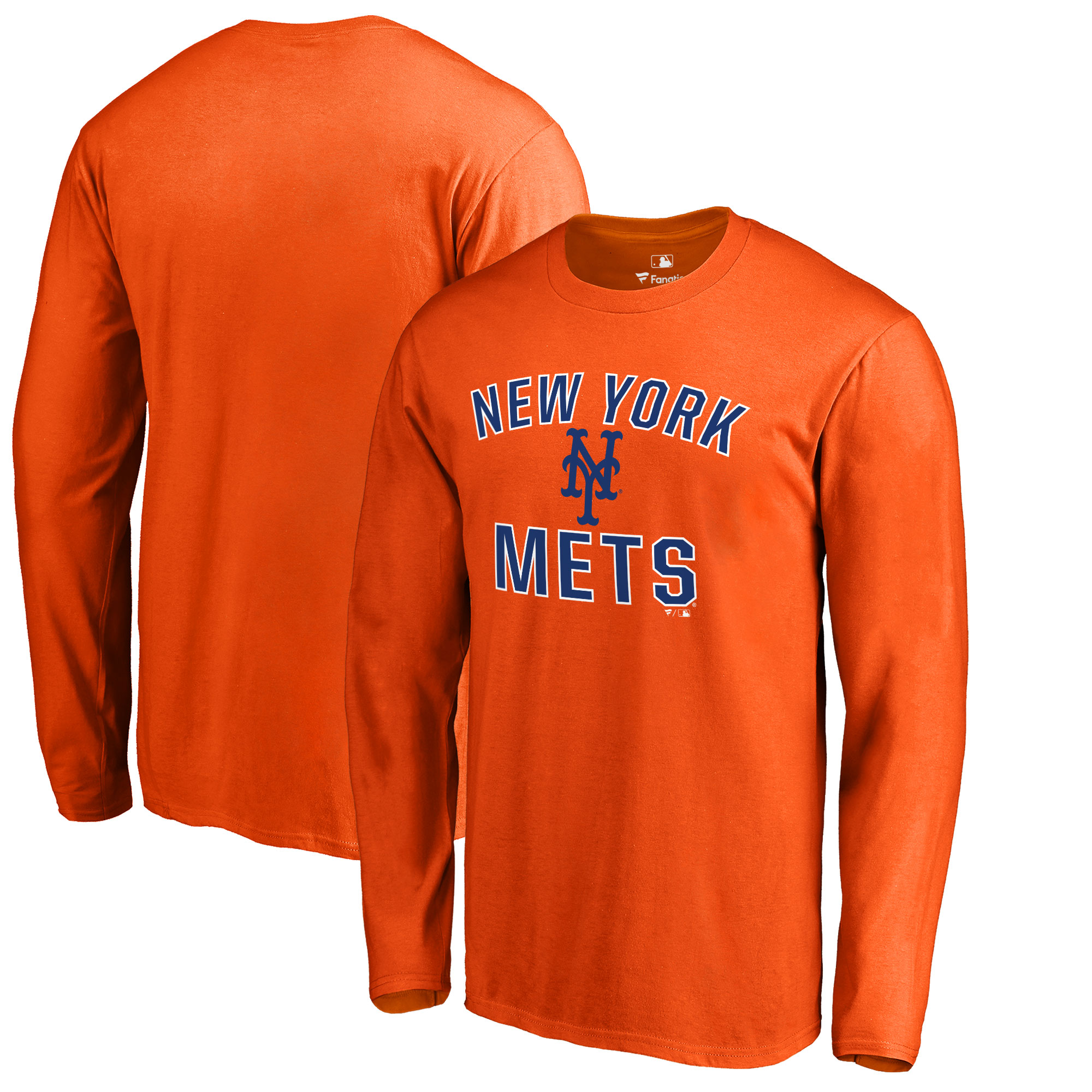 New York Mets Victory Arch Long Sleeve T-Shirt - Orange