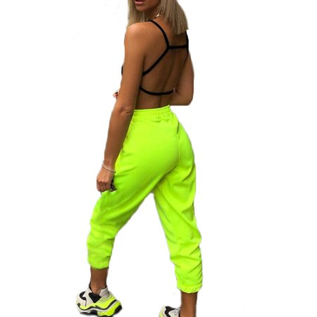 Eyicmarn Womens Joggers Bottoms Trousers Slacks Gym Jogging Sweat Pants Green