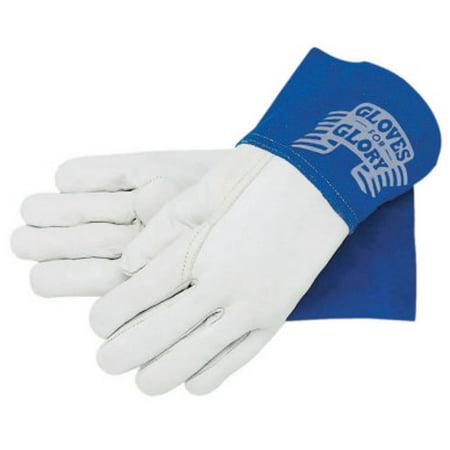 Memphis Glove Mig/Tig Welders Gloves, Premium Grade Grain Goatskin, Medium