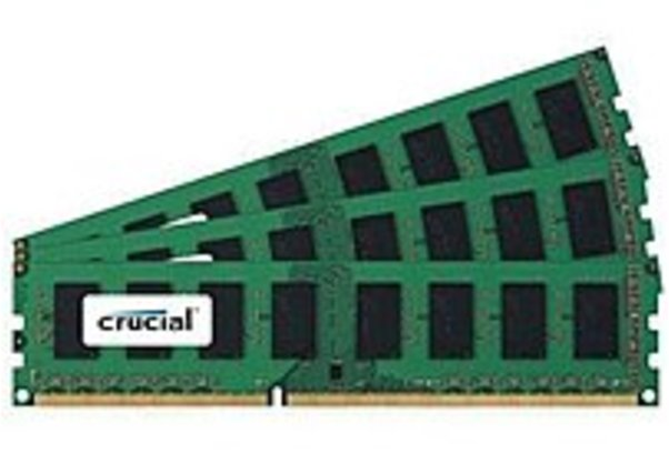 Crucial CT3CP12872BA1067 3 GB Memory Module - PC3-8500 - DDR3 SDRAM - DIMM - Unbuffered - ECC
