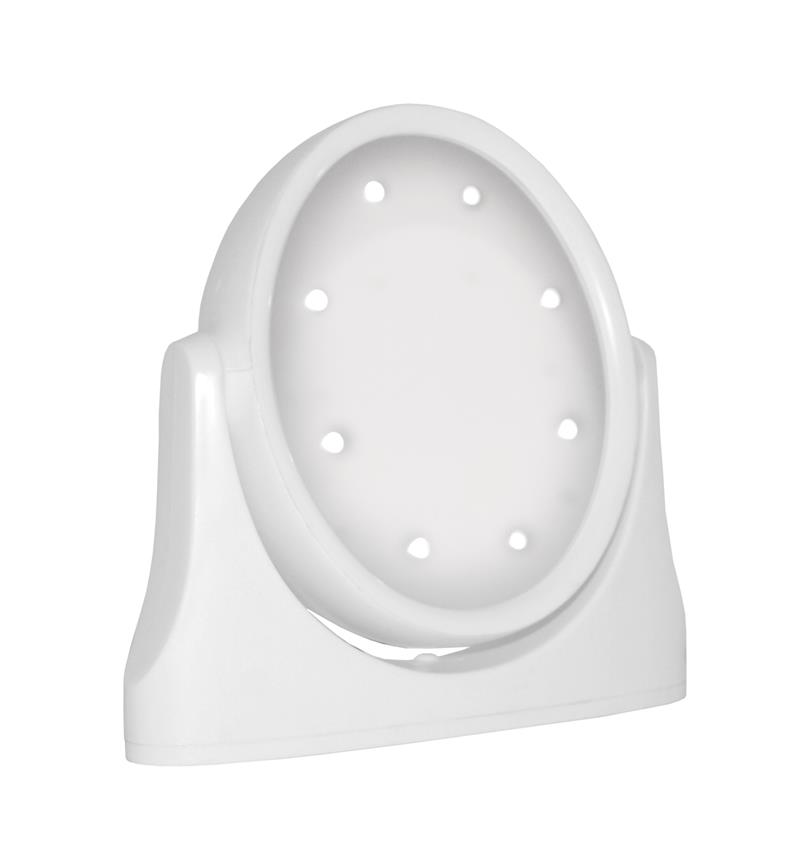 White LED lighted stand mirror