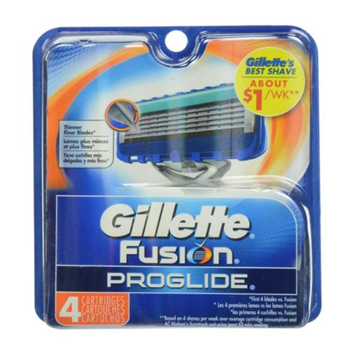 Gillette Fusion Proglide Manual Cartridge 4 ea (Pack of 2)