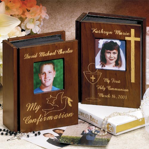 Personalized First Communion Wooden Album
