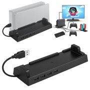 USB Hub Dock for Nintendo Switch Multi-port USB 2.0 Data Transmission Base with 4 Output Ports for Nintendo Switch PC Laptop Mac Windows
