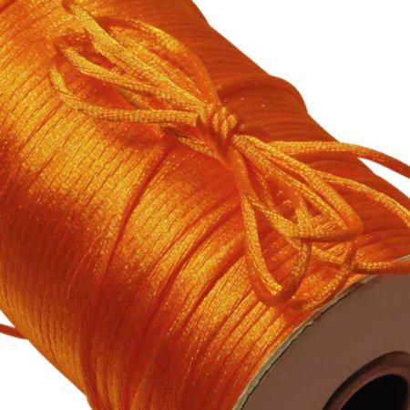 - 300 Feet 2mm Nylon SATIN CORD Orange RatTail Rat Tail Crafts / Kumihimo Braiding
