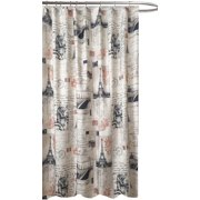 Paris Chic Eiffel Tower Fabric Shower Curtain