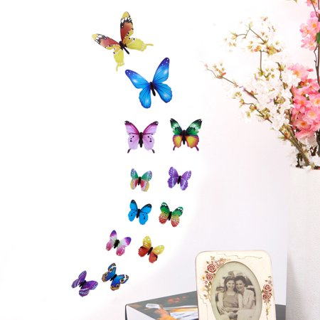 3D DIY Wall Sticker Stickers Butterfly Home Decor Room Decorations New MR