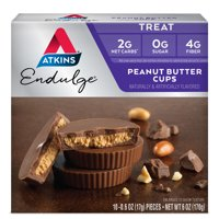 Atkins Endulge Chocolate Peanut Butter Cups, 10 - 0.60oz, 5-servings (Treat)