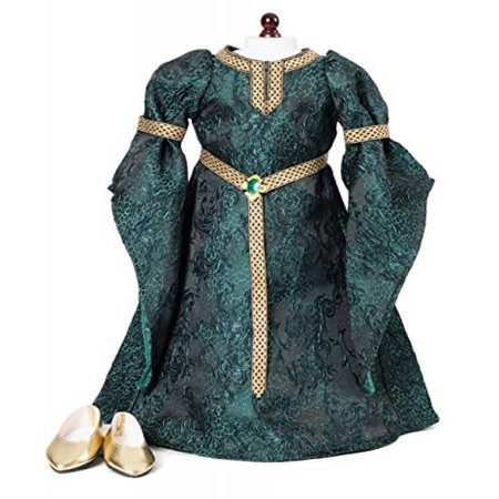Carpatina Celtic Princess Medieval Dress and Shoes fits 18