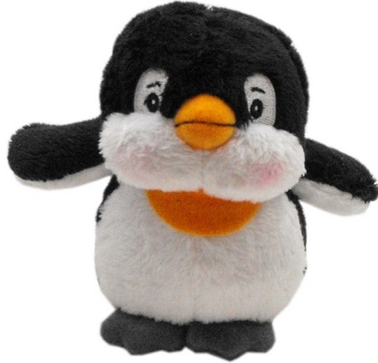 Image of Mirage 40-03 PGN Plush Christmas Dog Toy With Squeaker Penguin