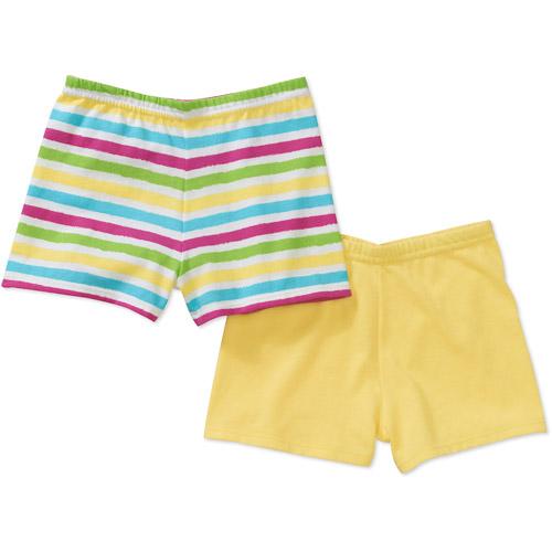 Garanimals Baby Girls' Print and Solid Short Set, 2-Pack