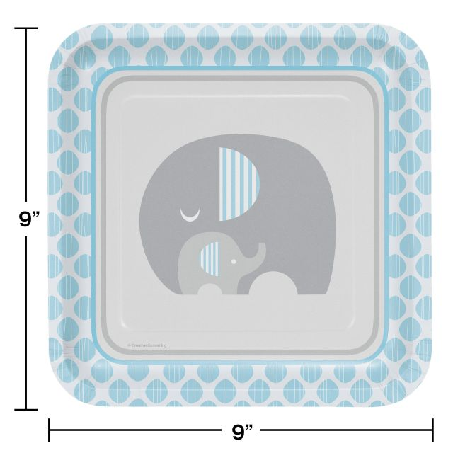 Creative Converting Little Peanut-Boy Square Paper Plates 9 9 Creative Converting-Toys 316937 8 Count