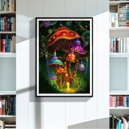 Paintings Of Halloween (Staron DIY 5D Diamond Painting by Number Kits, Halloween Crystal Rhinestone Embroidery Paint with Diamonds, Full Drill Canvas Art Picture for Home Wall)