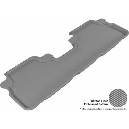 Highlander Hybrid 4wd - 3D MAXpider 2008-2013 Toyota Highlander Gas/Hybrid Second Row All Weather Floor Liner in Gray with Carbon Fiber Look