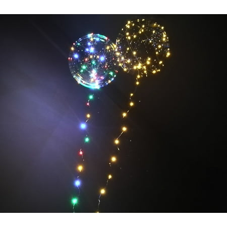 20 Inches Clear Led Balloons Helium Colorful Pvc Floating Balls
