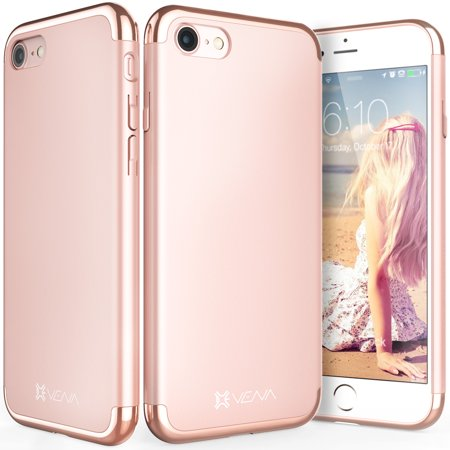 iPhone 8 Case, iPhone 7 Case, Vena [Mirage][Chrome] Dock-Friendly Slim Fit Hard Case Cover for Apple iPhone 8 / iPhone 7 (4.7