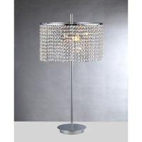 Warehouse of Tiffany Leah 2-light Chrome 15-inch Crystal Table Lamp