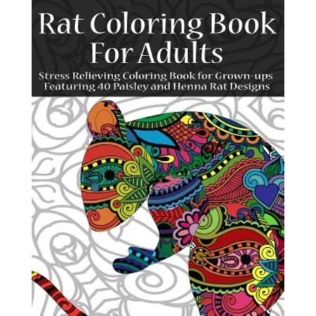 Rat Coloring Book For Adults Stress Relieving Grown Ups Featuring 40