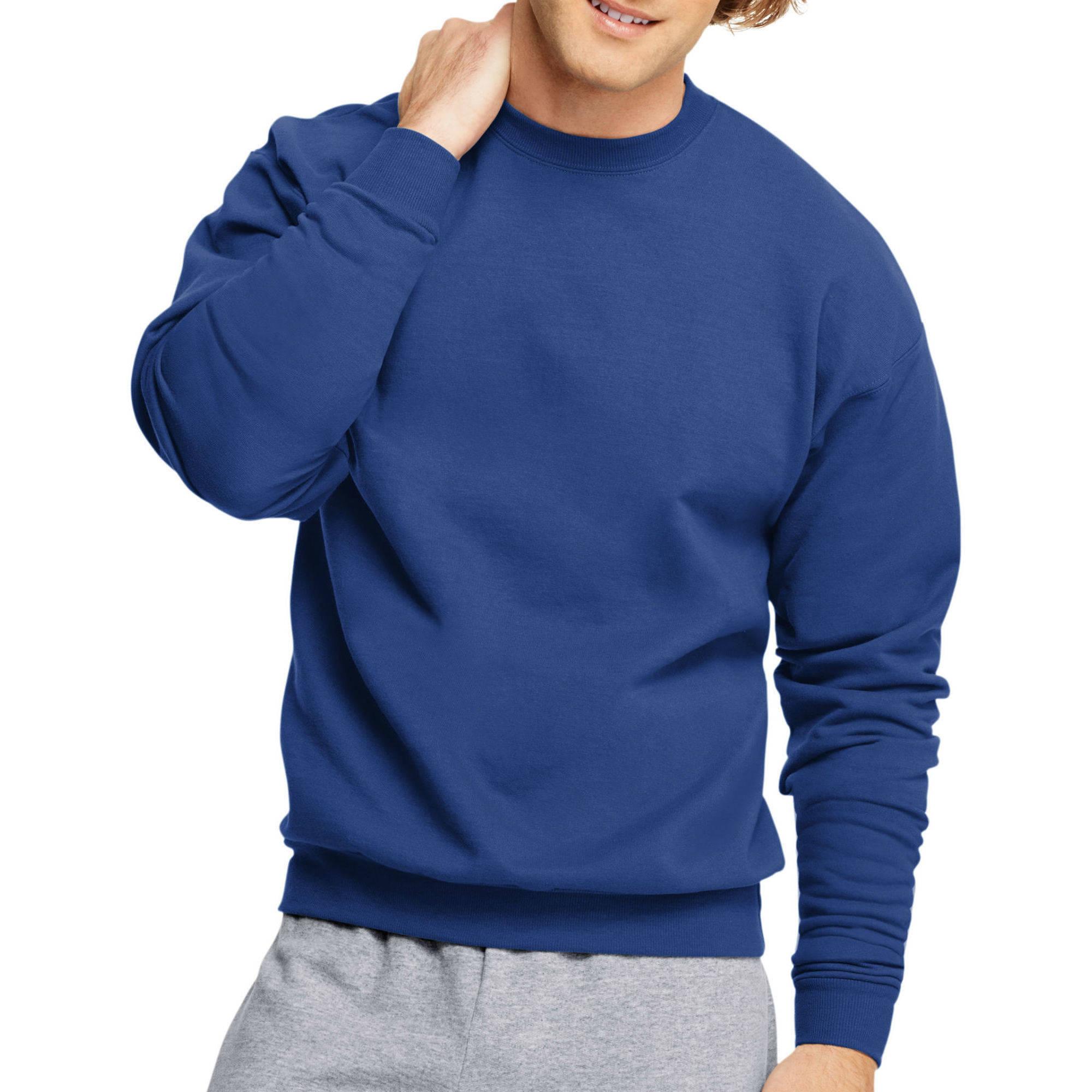 Hanes Men's Ecosmart Medium Weight Fleece Crew Neck Sweatshirt