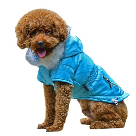 Winter Coat Pet Apparel (Unisex Pet Large Dog Polyeater Jacket Winter Warm Coat Puppy Hoodie Apparels )