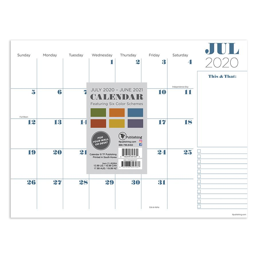 2021 Professional Mini Desk Pad Calendar