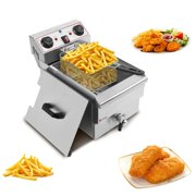 Ktaxon 12.5QT 1500W Commercial Stainless steel Electric Deep Fryer w/Timer