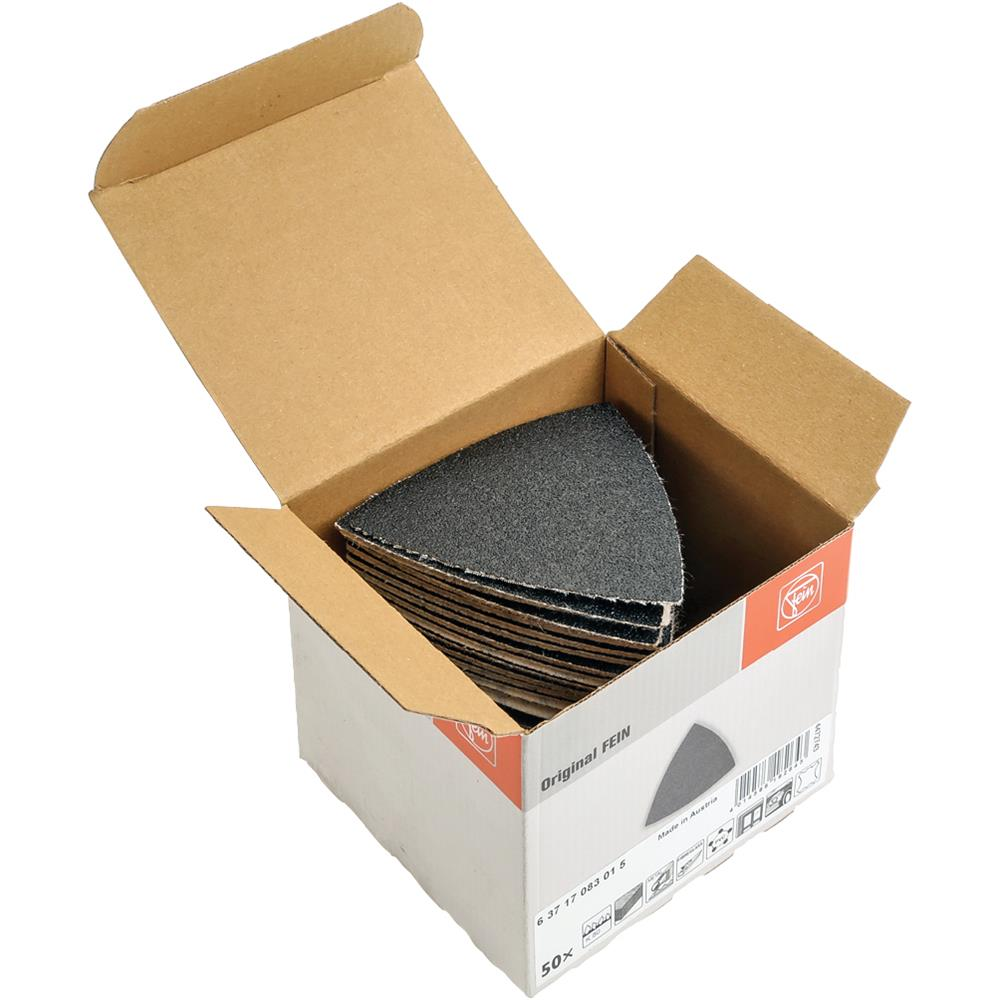 Fein T21922 Triangle Sandpaper A80 H&L, pk of 50 by FEIN