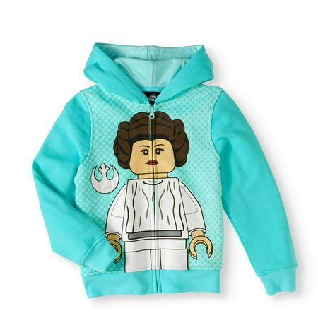 Girls' LEGO Star Wars Princess Leia Costume Zip-Up Hoodie - Star Wars Costume Hoodie
