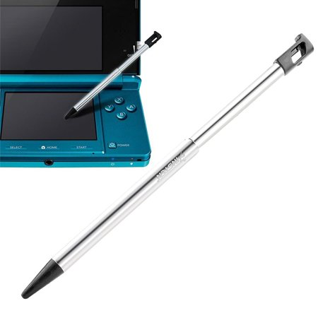 Insten Metal w/ Black Cap Retractable Stylus For Nintendo 3DS (Nintendo 3ds Lite Stylus)