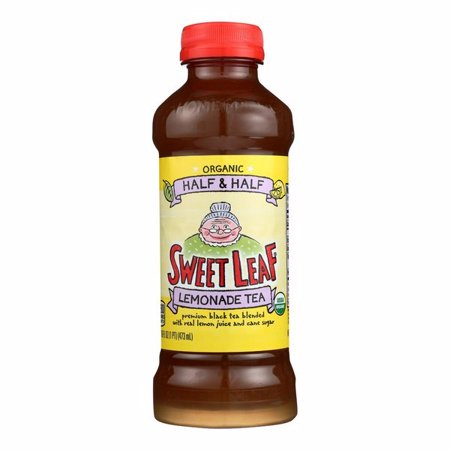 Sweet Leaf Tea Premium Iced Black Tea - Half And Half - Pack of 12 - 16 Fl Oz.
